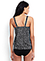 Women's Regular Beach Living Pleated Blouson Scatter Dots Tankini Top
