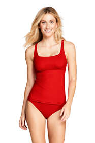 Women's Square Neck Underwire Tankini Top Swimsuit