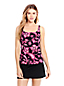 Women's Regular Beach Living Squareneck Twilight Floral Tankini Top