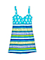 Women's Regular Sweetheart Dresskini Scuba Print Swim Top