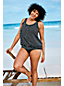Women's Plus Beach Living Pleated Blouson Scatter Dots Tankini Top