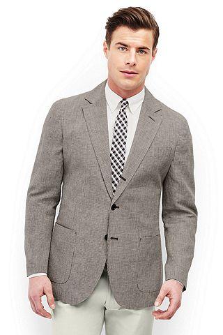 Linen Baird Mcnutt Houndstooth Sport Coat 481506: Khaki/ Brown