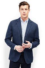 Linen Baird Mcnutt Houndstooth Sport Coat 481506: Navy / Blue