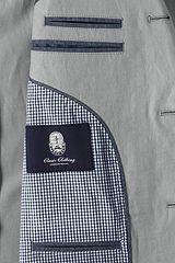 Textured Cotton Linen Sport Coat 481508: Light Steel Grey