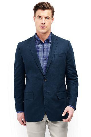 Textured Cotton Linen Sport Coat 481508: Luna Navy
