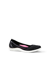 Womens Wide Comfort Ballet Pumps - 4.5 - Grey Lands End rZNa1Fd