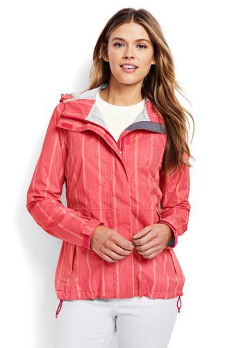 Women's Regular Patterned Breakwater Rain Jacket