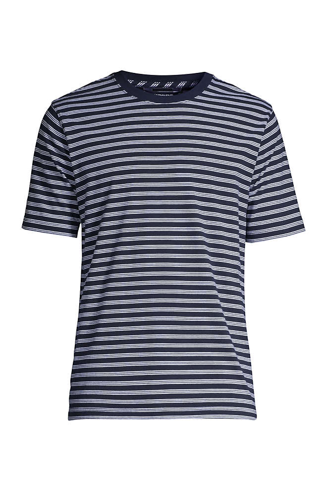 Men's Big and Tall Super-T Short Sleeve Stripe T-Shirt, Front