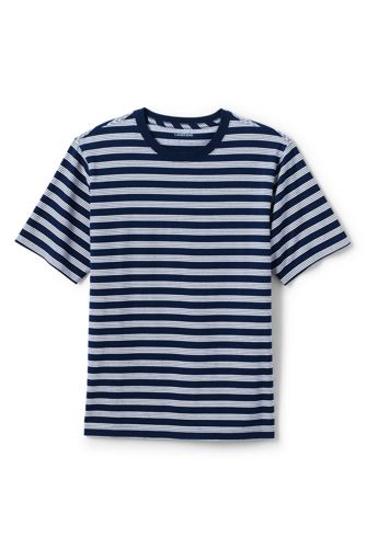 Men's Short Sleeve Stripe Super T by Lands' End