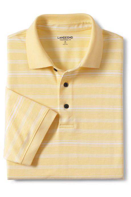 Men's  Tall Short Sleeve Supima Jacquard Polo Shirt