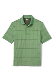 Men's Tall Short Sleeve Jacquard Super Soft Supima Polo Shirt
