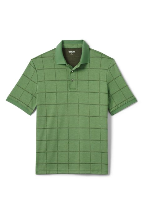 Men's Short Sleeve Jacquard Super Soft Supima Polo Shirt