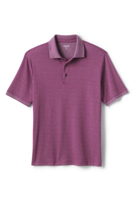 Men's  Tall Short Sleeve Supima Jacquard Polo Shirt