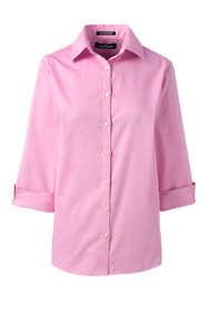 School Uniform Women's 3/4 Sleeve Pattern Broadcloth Dress Shirt