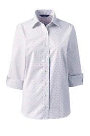 Women's 3/4 Sleeve No Gape Pattern Stretch Shirt