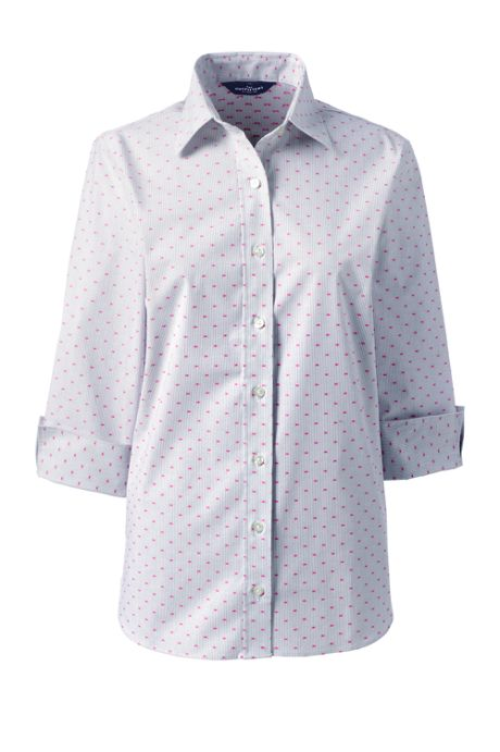 Women's 3/4 Sleeve No Gape Pattern Stretch Shirt