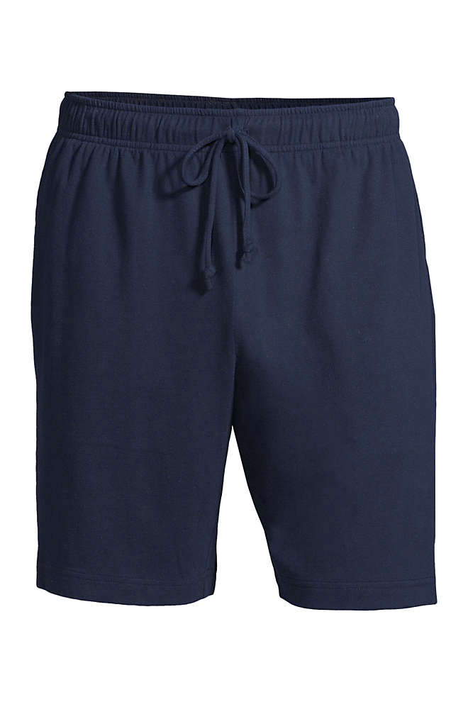 Men's Knit Jersey Pajama Shorts, Front