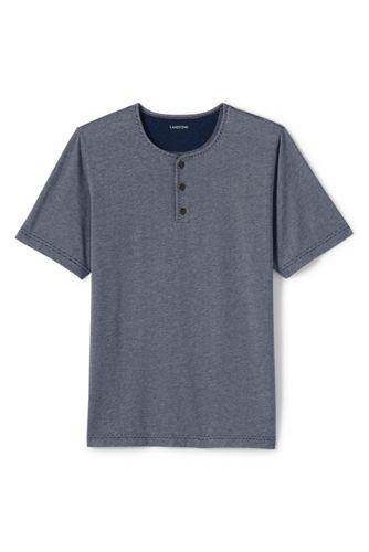 Men's Regular Henley Pyjama T-shirt