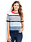 Women's Regular Striped Textured Crew Neck Jumper
