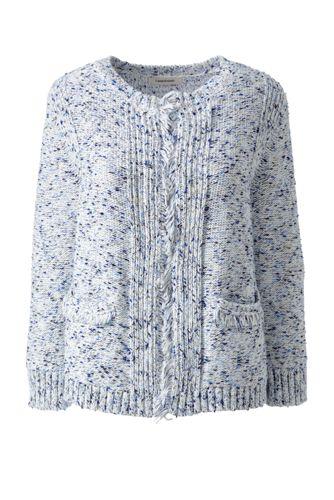 Women's Regular Cotton Blend Fringed Jacket
