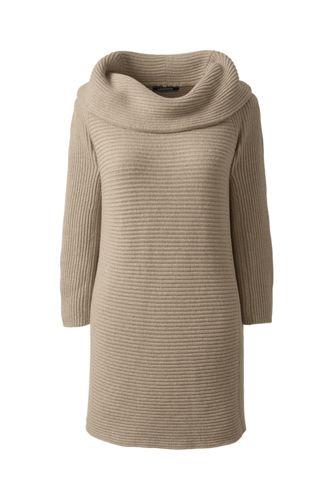 Women's Regular Combed Cotton Cowlneck Tunic