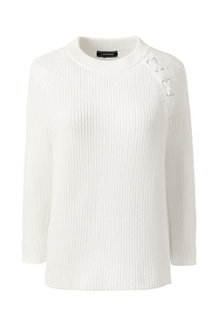 Women's Drifter Lace Shoulder Crew Neck Jumper