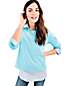 Women's Regular Three-quarter Sleeve Ottoman Boatneck Jumper