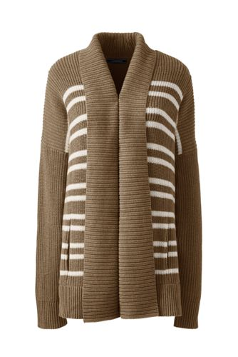 Women's Regular Drifter Mix Stitch Striped Coatigan