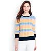 LandsEnd.com deals on Supima Cotton 3/4 Sleeve Stripe Sweater