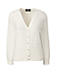 Women's Regular Three-quarter sleeve Textured Stripe Dress Cardigan