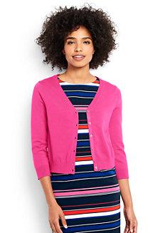 Women's  Supima 3-Quarter Sleeve Dress Cardigan