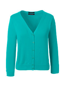 Women's  Supima 3-Quarter Sleeve Dress Cardigan