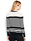 Women's Regular Fine Gauge Supima Striped Crew Neck Cardigan