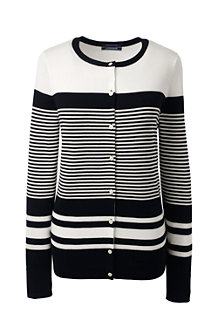 Le Cardigan Supima à Rayures Multiples, Femme