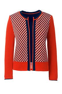 Women's Regular Three-quarter sleeve Supima Reversible Cardigan