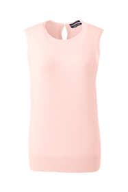Women's Petite Sleeveless Supima Cotton Sweater
