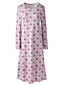Women's Supima Patterned Calf-length Nightdress