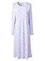 La Chemise de Nuit Longue Imprimée à Manches Longues, Femme Stature Petite