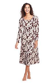 Women s Midcalf Supima Cotton Nightgown Print Long Sleeve b7be6b4e22