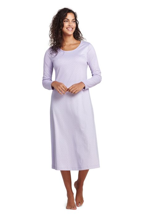 5351913a33 Women s Midcalf Supima Cotton Nightgown Print Long Sleeve ...