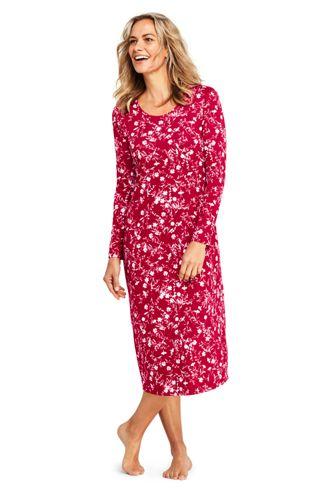 2f76b04262b Women s Supima Patterned Long Sleeve Calf-length Nightdress