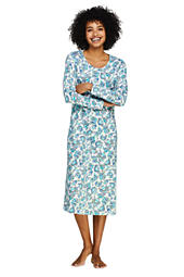 Women s Midcalf Supima Cotton Nightgown Print Long Sleeve 5736eac6e