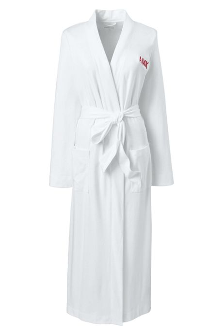 Women's Petite Supima Cotton Long Robe