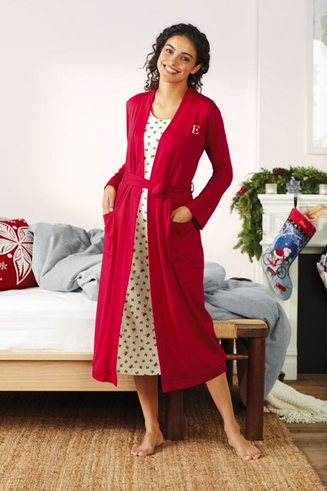 Women's Supima Cotton Long Robe