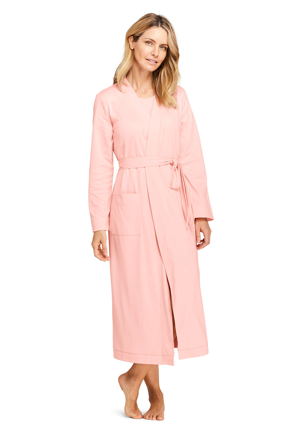 5cde14a32a Women s Supima Cotton Long Robe from Lands  End