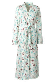 Women's Long Sleeve Print Supima Cotton Robe