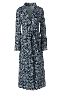 Women's Supima Patterned Dressing Gown