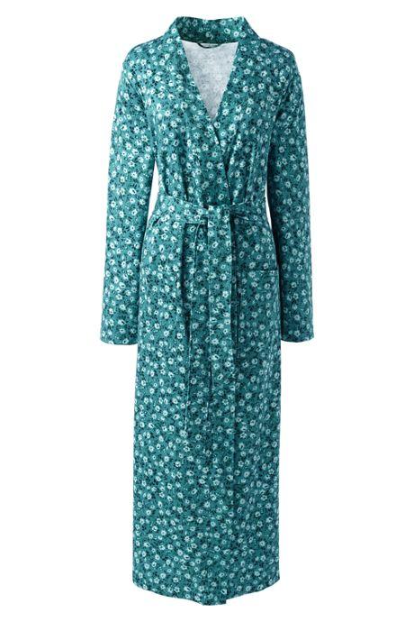 Women's Long Sleeve Print Supima Cotton Robe