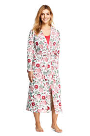 Women's Petite Long Sleeve Print Supima Cotton Robe