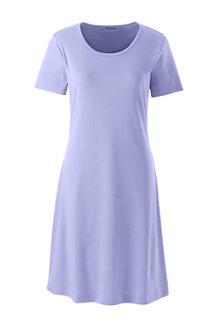 La Chemise de Nuit Mi-Longue à Manches Courtes, Femme
